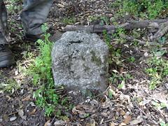 Une tombe avec stèle marquée d'une croix