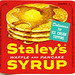 Staley's Waffle and Pancake Syrup label