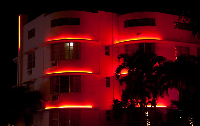 South Beach Architecture at Night - Miami Beach, FL