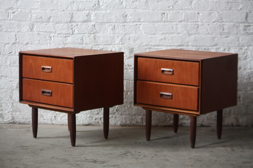Danish Modern Teak Nightstands Woodworking DIY Project