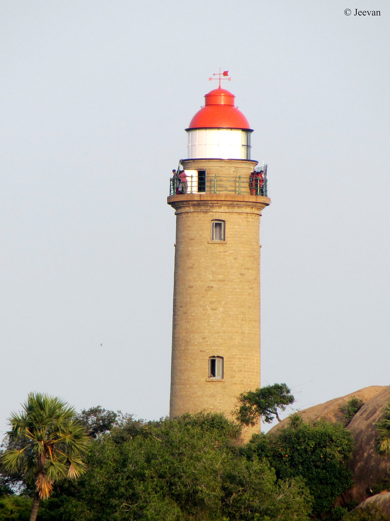 Lighthouse Natural Stone : Mamallapuram lighthouse the is a circular