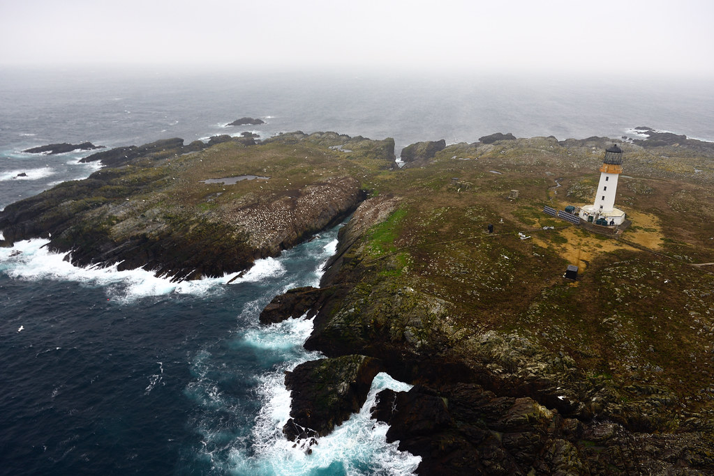 Sule Skerry Lighthouse An Aerial View Sule Skerry