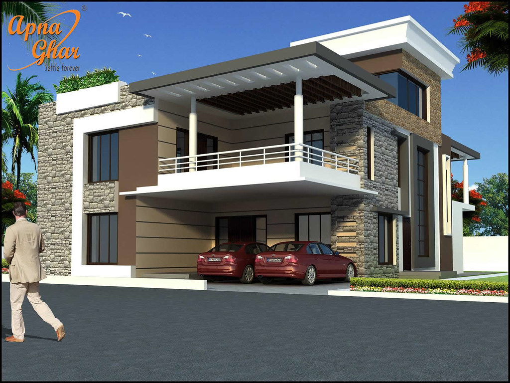 Beautiful duplex house design in 450m2 18m x 25m like s for Duplex home plan design