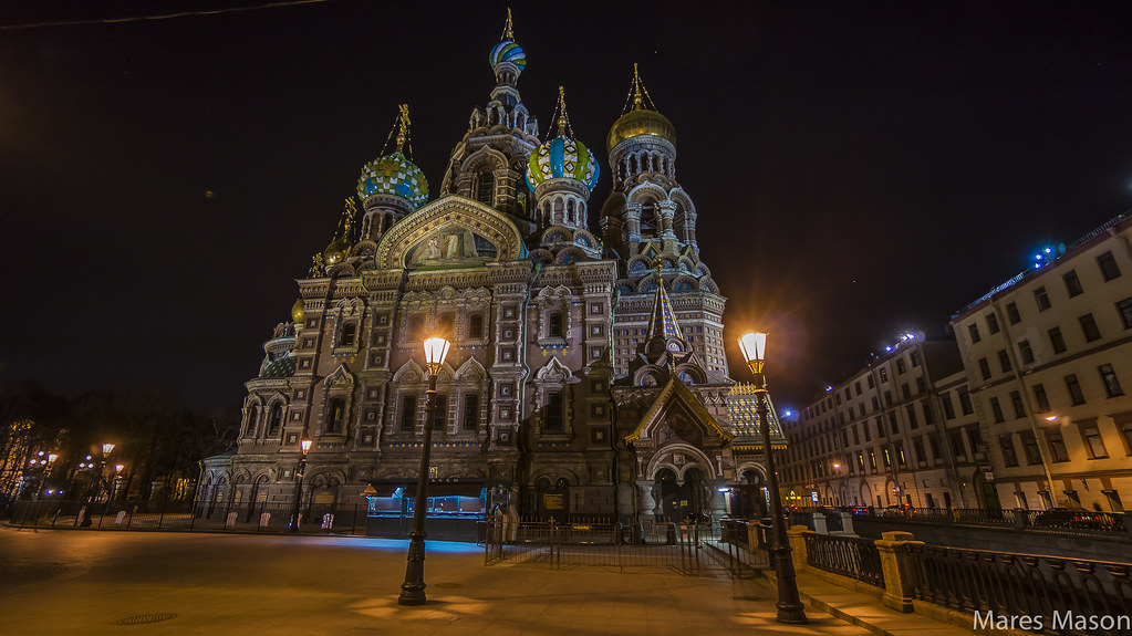 Church of Our Savior on Spilled Blood St.Petersburg at night