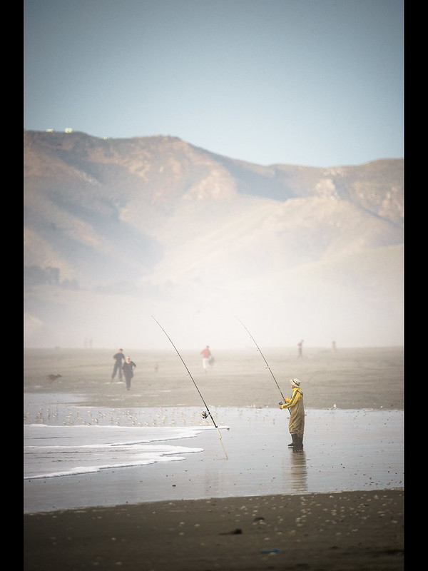 ocean beach fishing