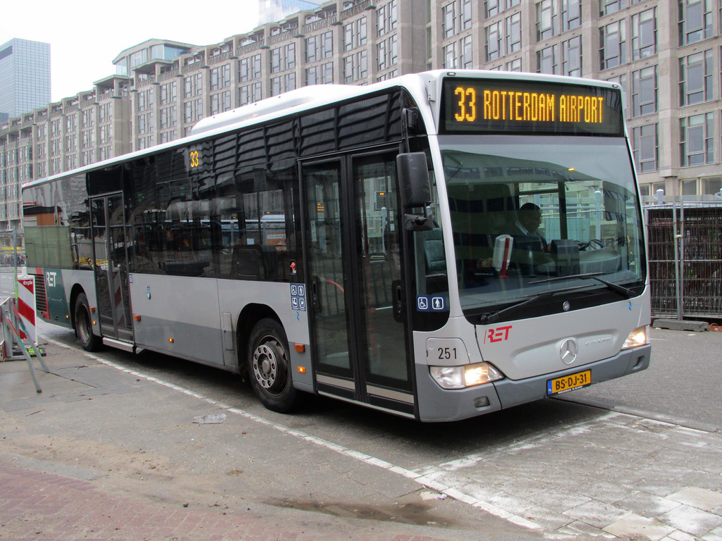 RET bus 251 Rotterdam CS   RET bus, Rotterdam CS, route 33 ...
