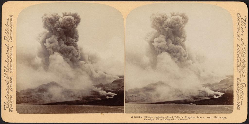 A terrible volcanic explosion - Mont Pelée in eruption, Ju ... - photo#33
