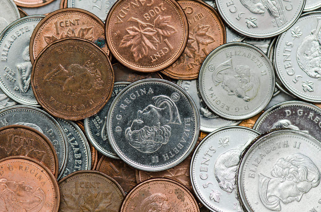 Stock Photography Canadian Coins Instructed To Make 10 Flickr