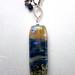 Lampwork Pendant with Gemstone Fringe