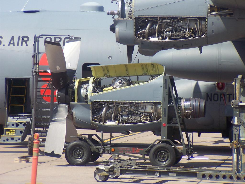 Allison T56-A-15 turboprop engine change | Allison T56-A-15 … | Flickr