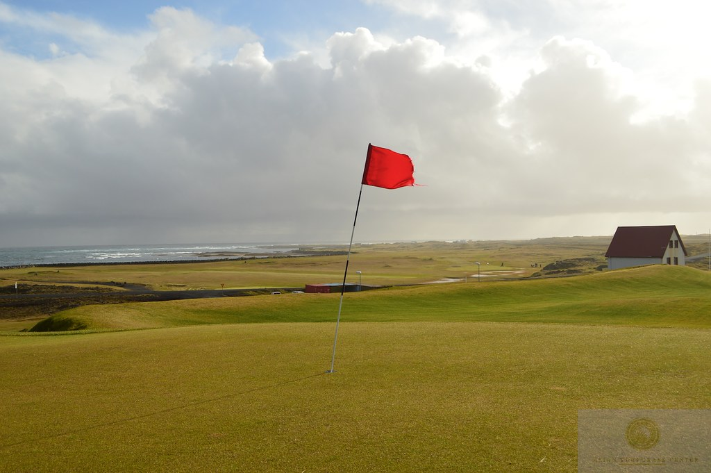 18th green at Grindavik