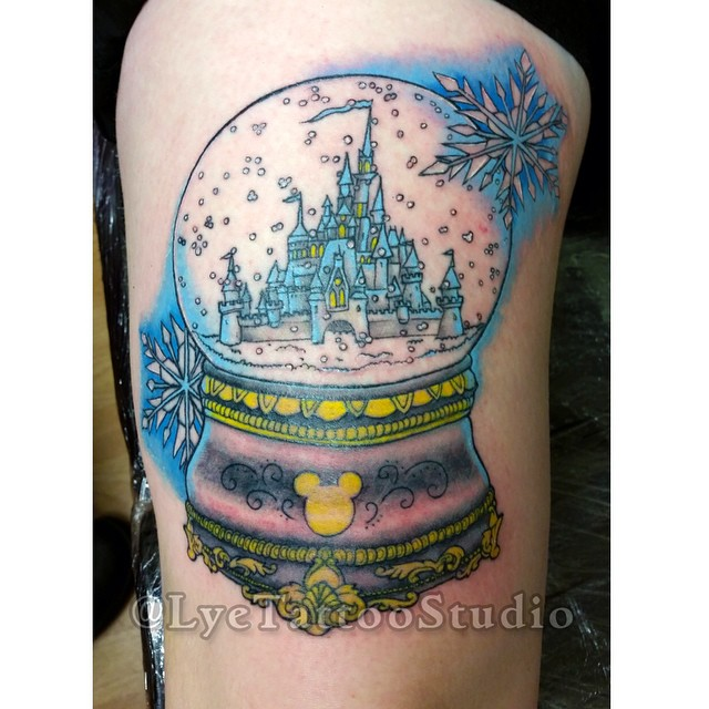 finished disney snow globe the photo is a little bit warp flickr. Black Bedroom Furniture Sets. Home Design Ideas