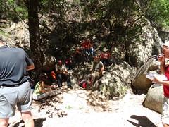 Peu avant la cascade de la Frassiccia : pause-déjeuner pour tout le monde