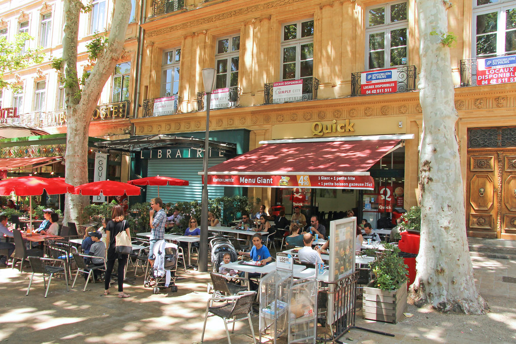 quick aix en provence cours mirabeau france this is