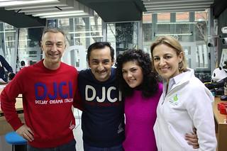 Lonia Orlando con Linus, Nicola Savino e Maria Serena Porcari