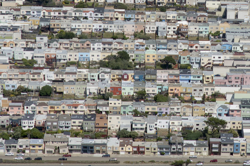 Aerial view of coastal 39Santiago39 Sunset District