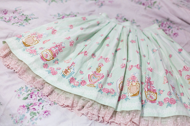 Angelic Pretty Rose Toilette SK (mint)