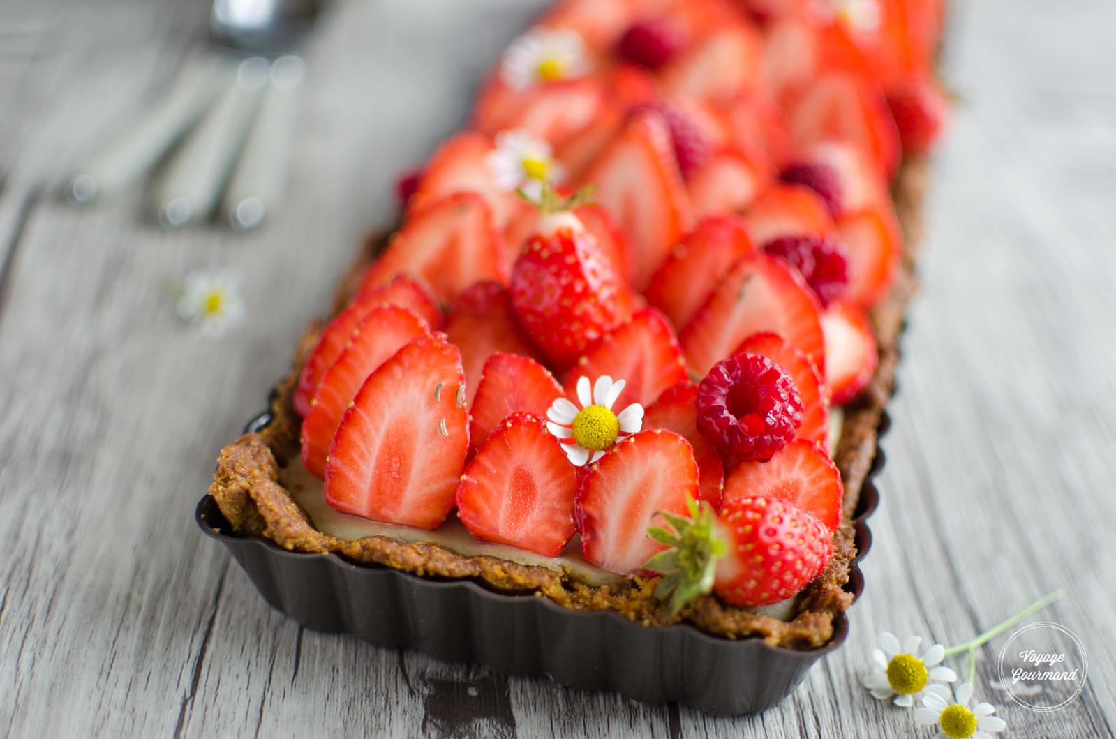 Tarte aux fraises (IG bas)