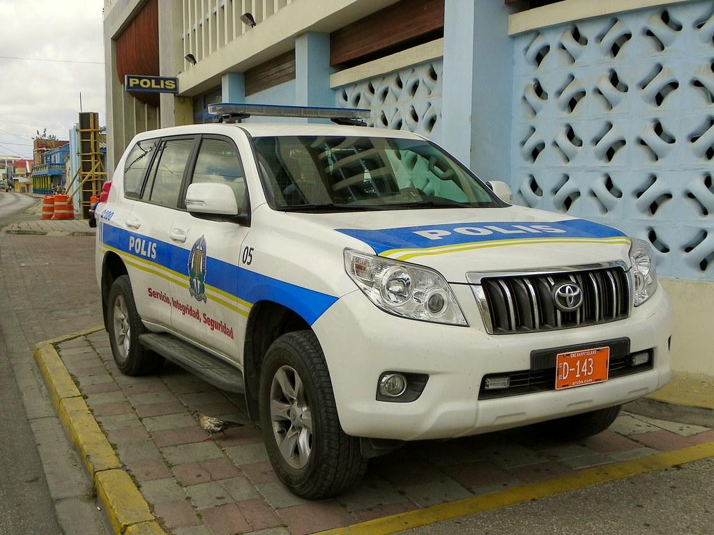 Oranjestad Aruba Police Toyota Suv Outside Police