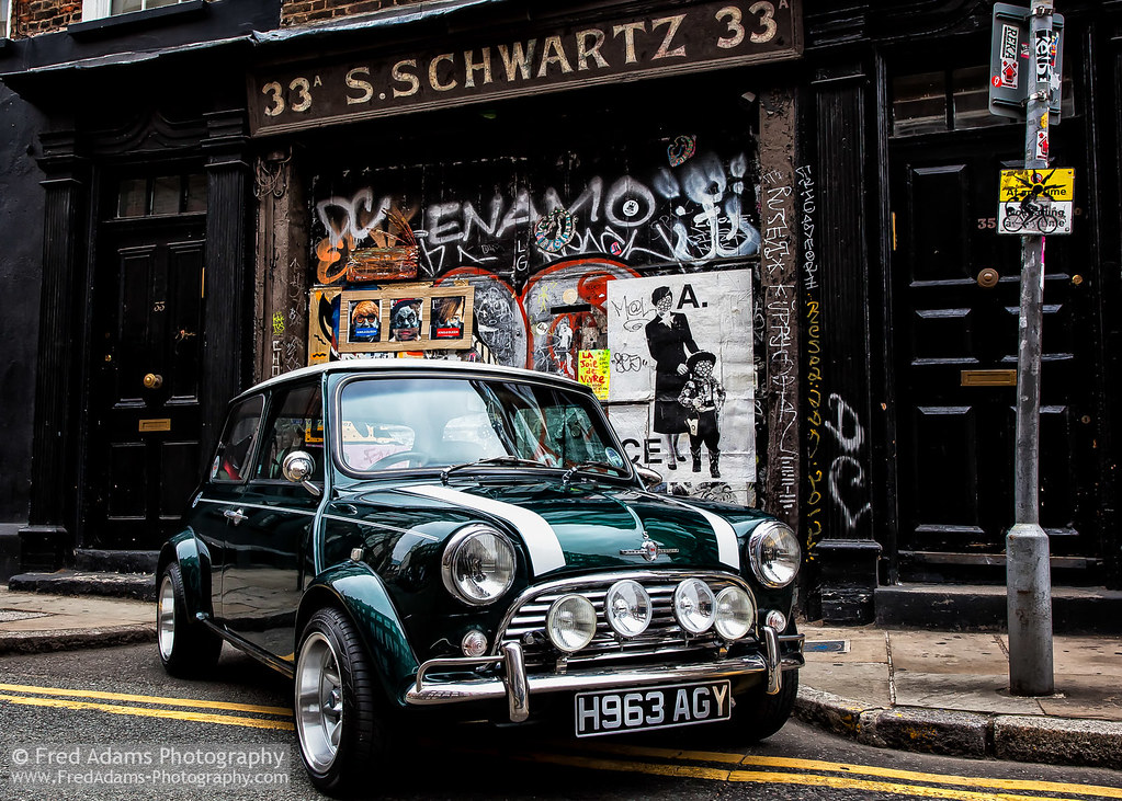 New Mini Cooper >> Artistic Pretensions | Classic Mini Cooper in Spitalfields, … | Flickr