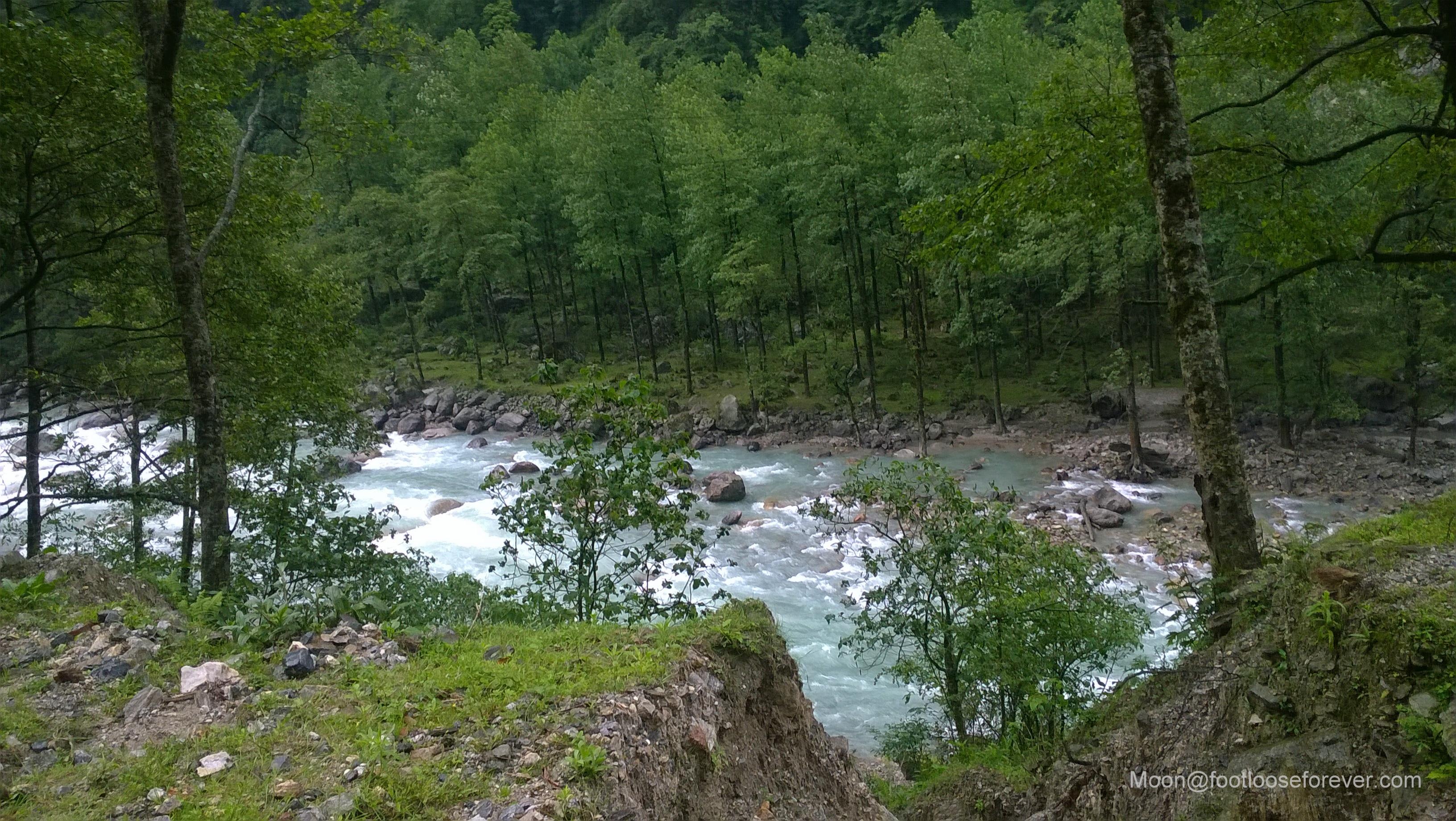 river, stream, lachung, lachen, sikkim