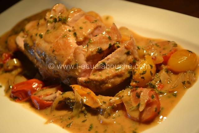 Filet Mignon aux Thym, Oignons & Tomates Cerises © Ana Luthi Tous droits réservés 11