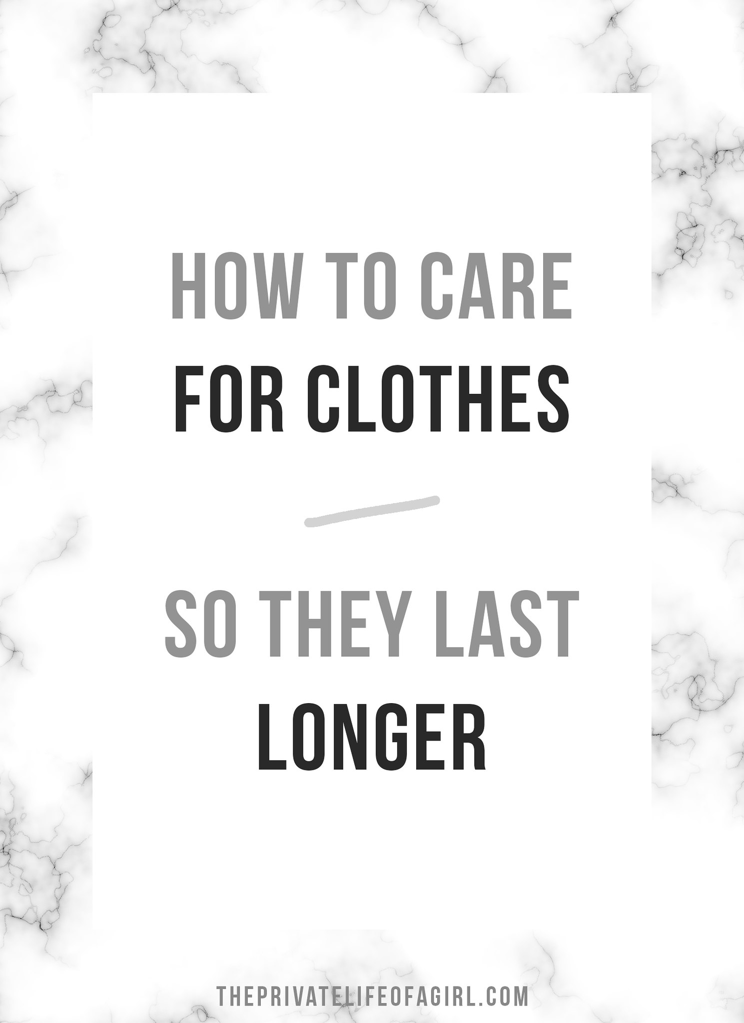 Caring For Clothes So They Last Longer