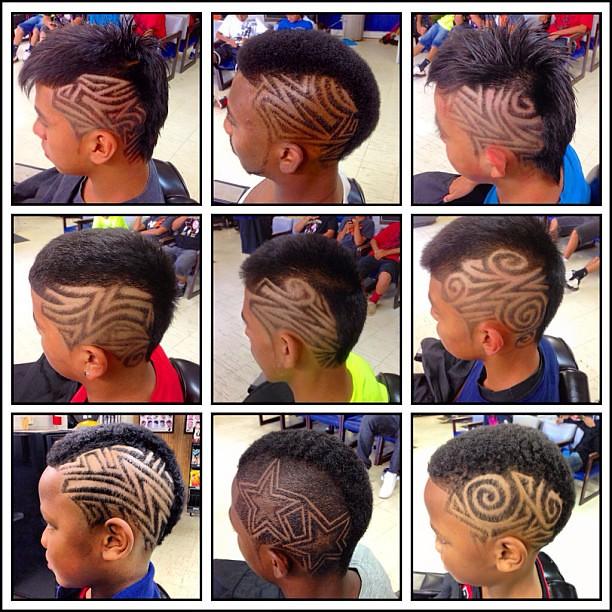 picassos hair art quotsome of my creative mohawk designsquot m