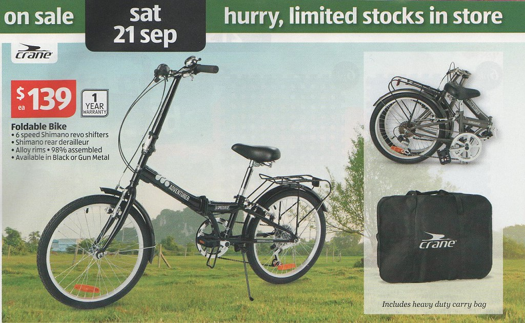 aldi folding bike f1reand1ce flickr. Black Bedroom Furniture Sets. Home Design Ideas