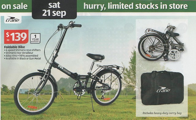 aldi folding bike flickr photo sharing. Black Bedroom Furniture Sets. Home Design Ideas