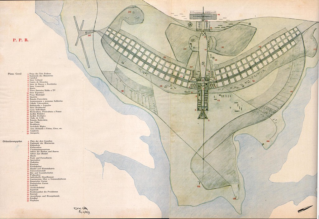 Brasilia Master Plan Brasilia Master Plan 1957