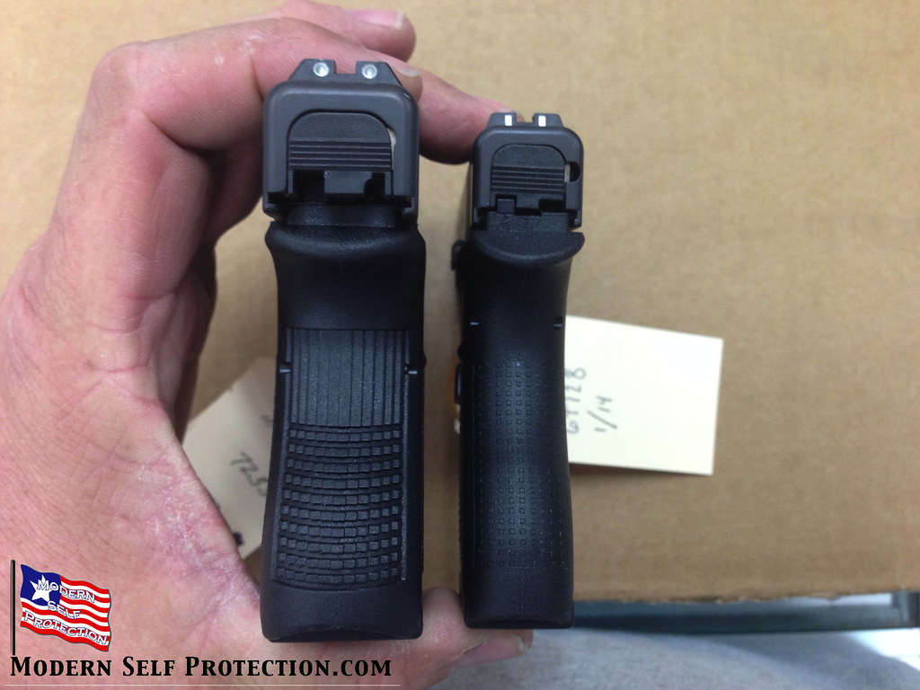 Glock 42 and Glock 26 Rear View | Glock 42 and Glock 26 ...
