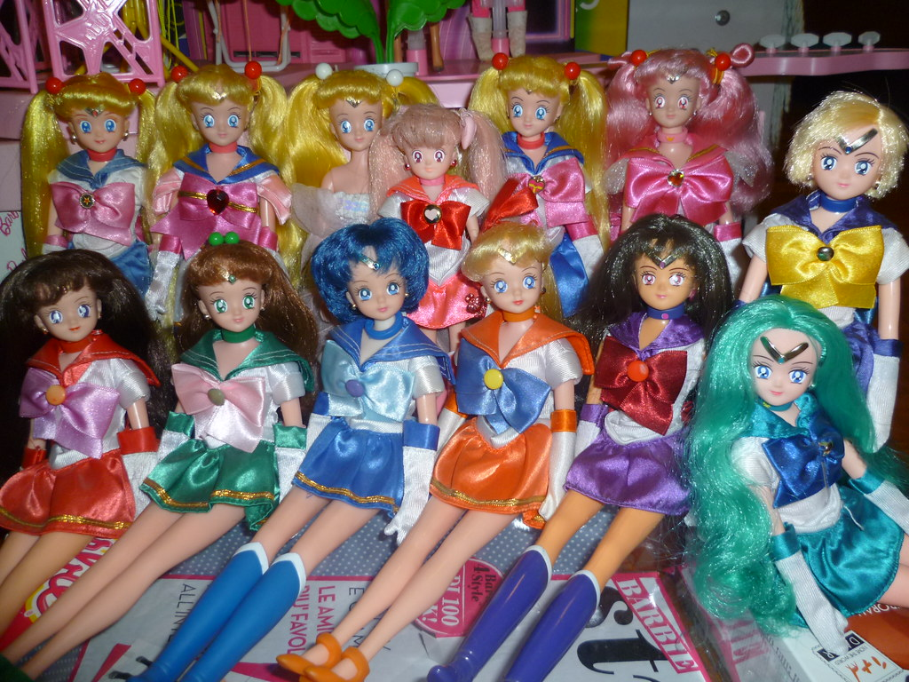 My Little Sailor Moon Dolls Collection From Left