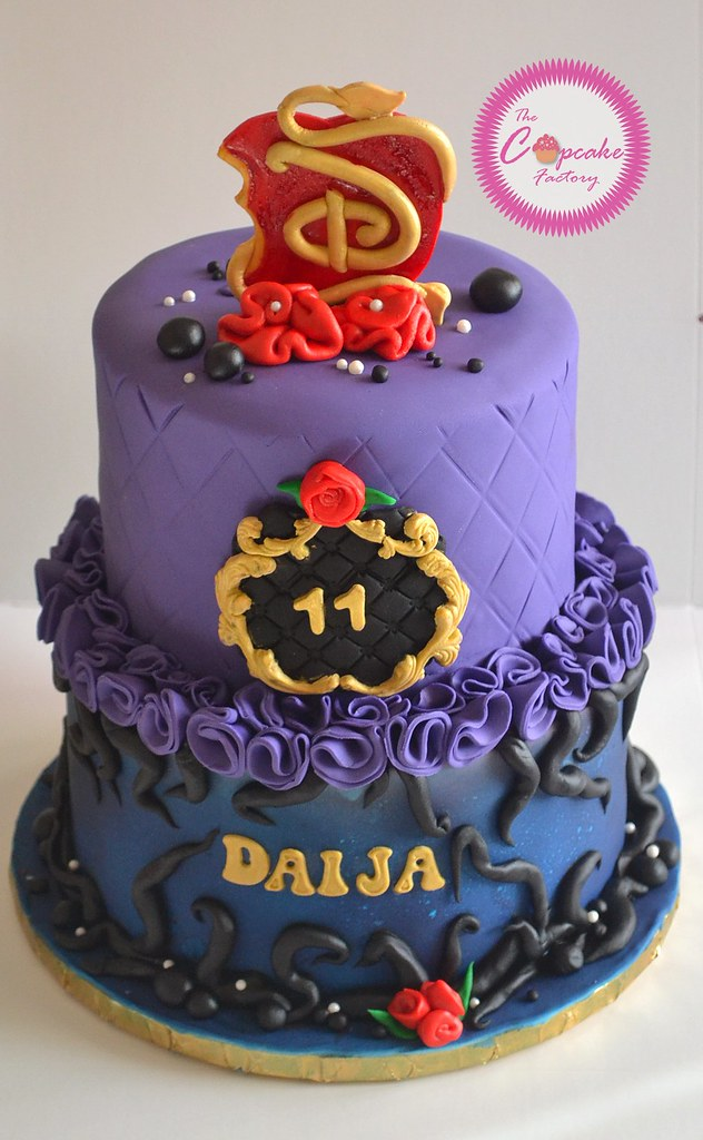 Uma Descendants Birthday Cake