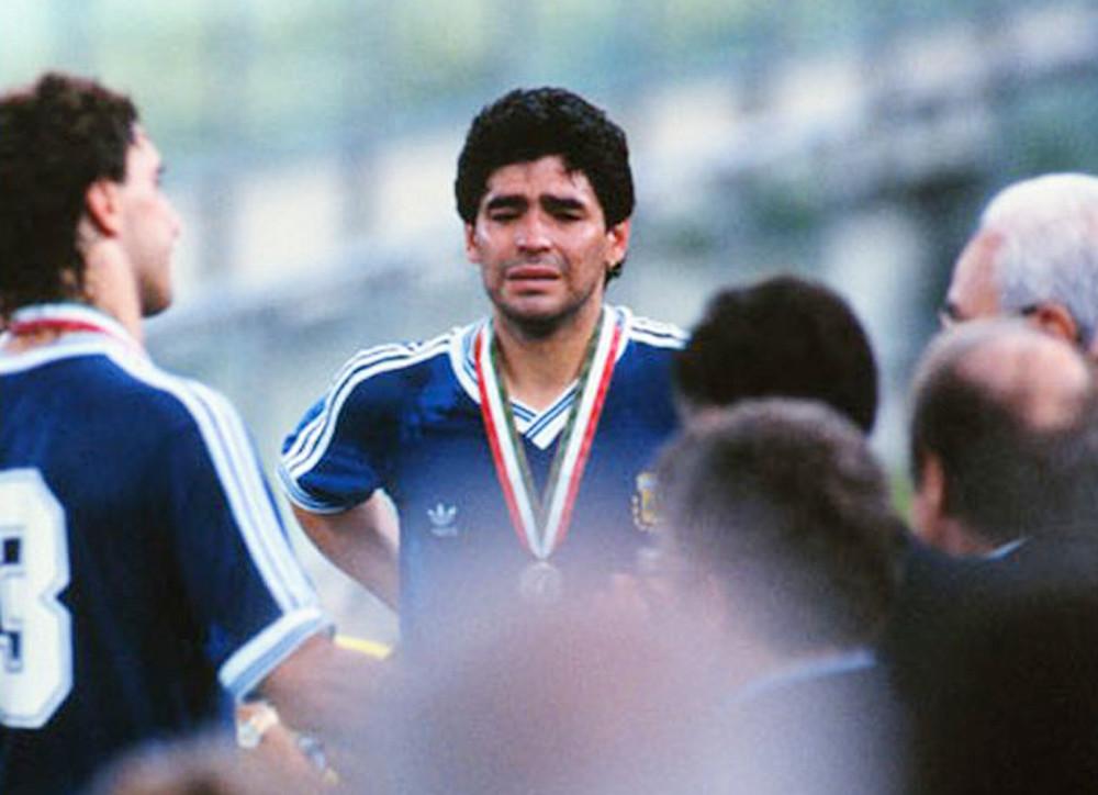 maradona lacrimi 1990