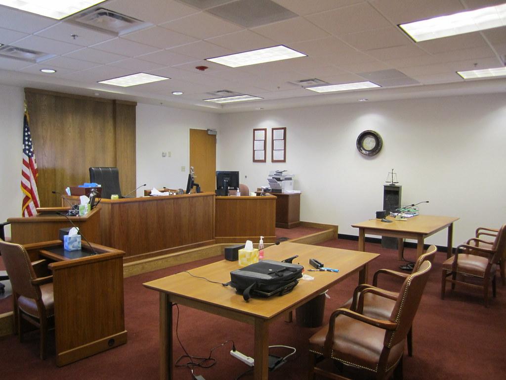 Doj inside courtroom at eoir immigration court el paso te for Image of a room