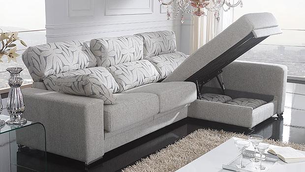 Sofa de 3 plazas en color gris claro con cheslong - Color gris claro ...