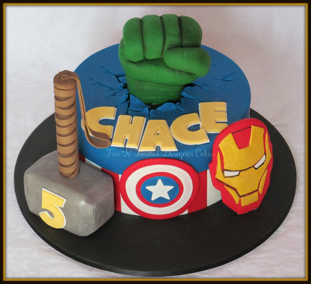 All sizes Avengers themed birthday cake Flickr Photo Sharing