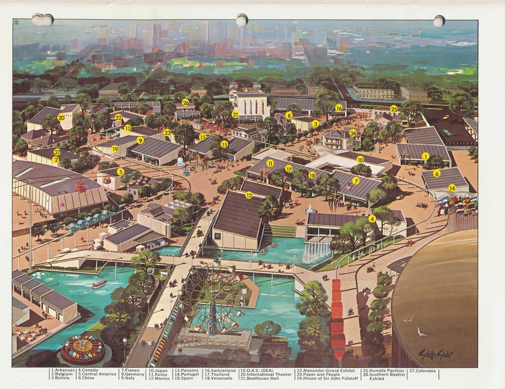 Hemisfair 68 San Antonio Texas From The Official