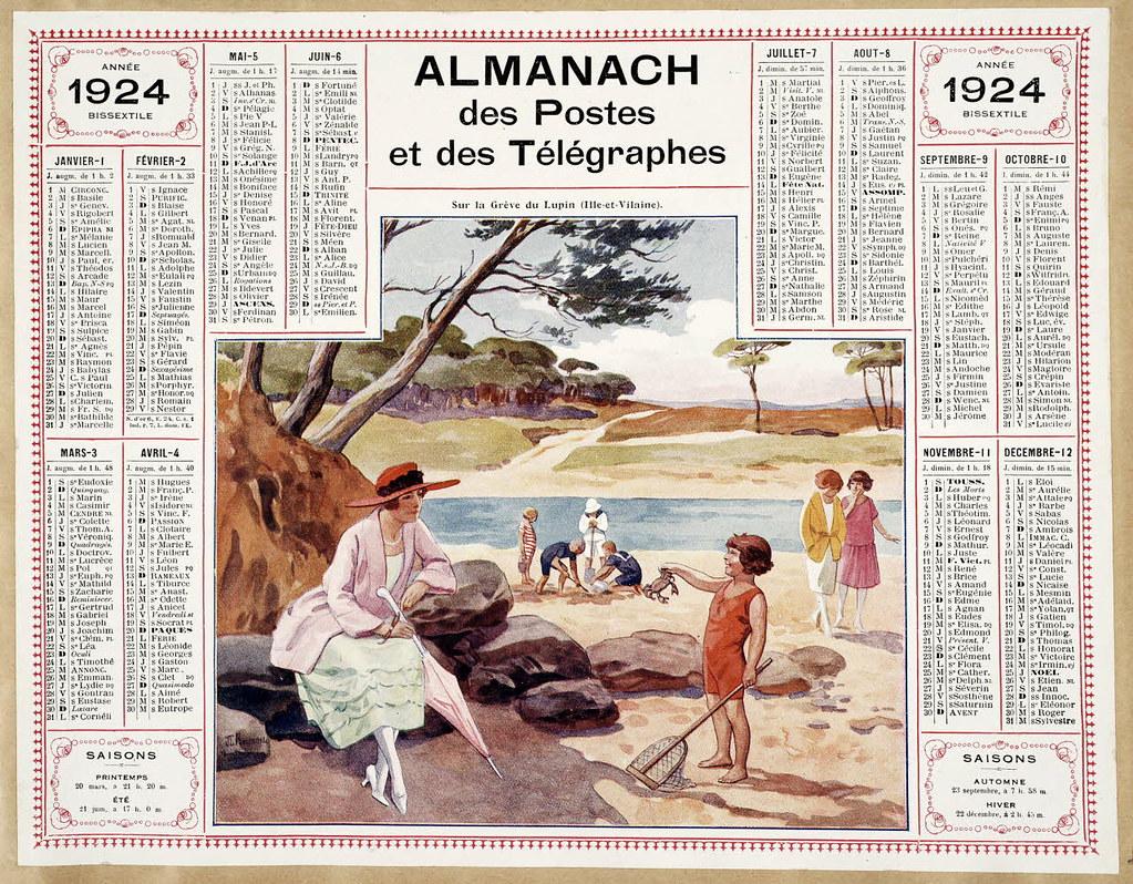 almanach des postes et des t u00e9l u00e9graphes  registre de 1924
