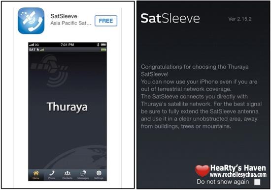 SatSleeve iOS app