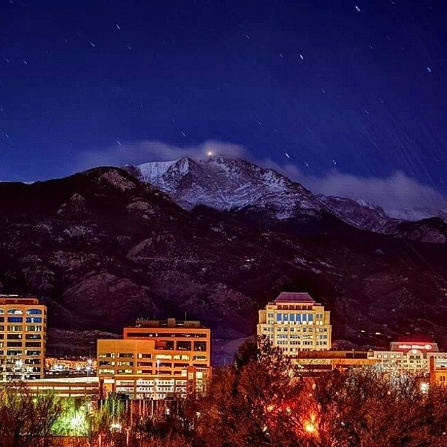 Pikes Peak In Colorado Springs: A Captivating #ColoradoSprings #skyline #downtown #pikespe
