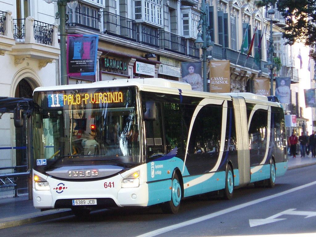 Emt malaga 641 irisbus urbanway euro 6 310hp 6389 jcb for Oficina emt malaga