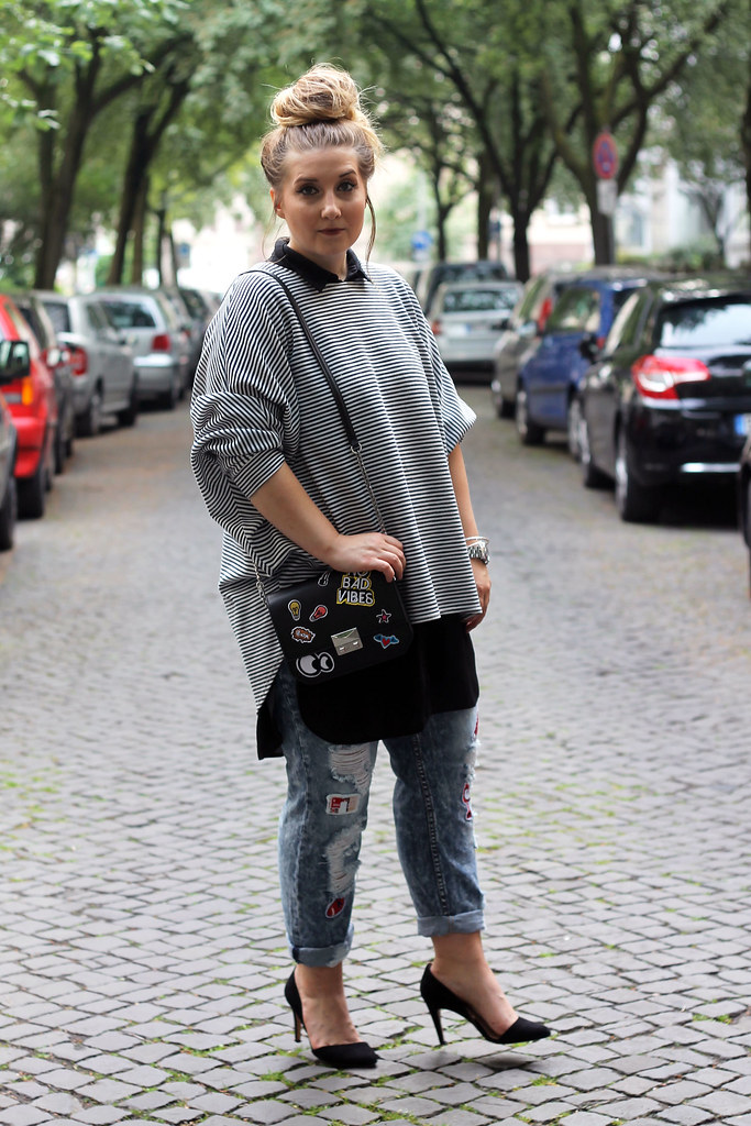 1-outfit-modeblog-fashionblog-trend-patches-streifen-jeans