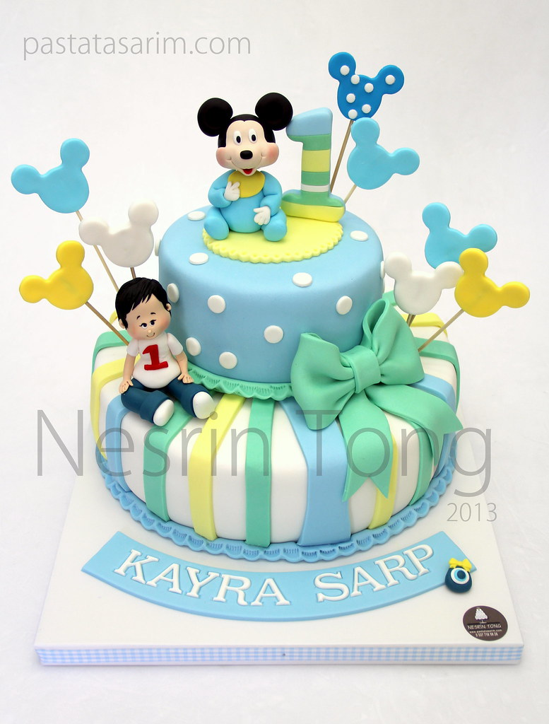 Baby Mickey Mouse Cake Topper