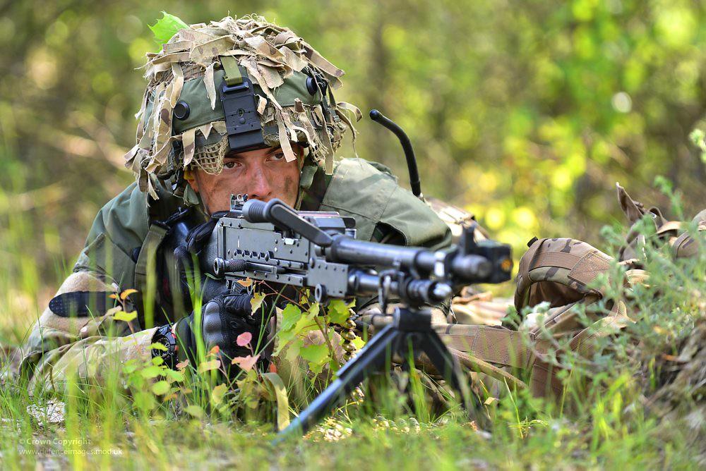 Soldier With General Purpose Machine Gun