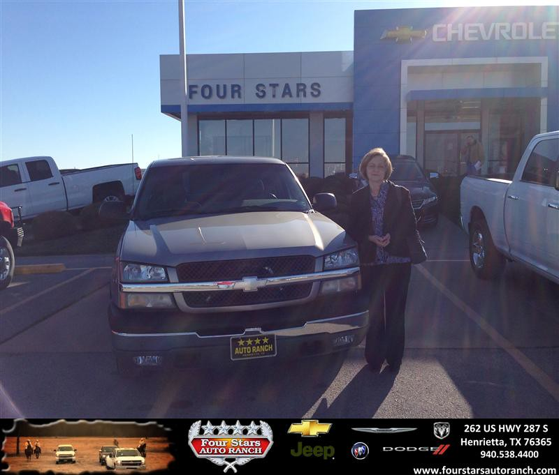 Four Stars Auto Ranch >> Thank you to Alvin And Glenda Veith on your new 2003 #Chev… | Flickr