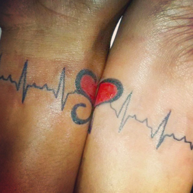 couple #tattoo @ navi #mumbai with #initial of #partner. … | Flickr