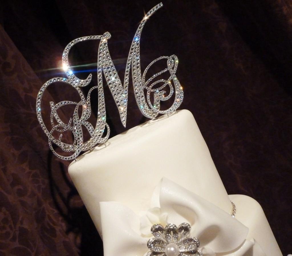 Diamond Monogram Wedding Cake Toppers Wallpaper