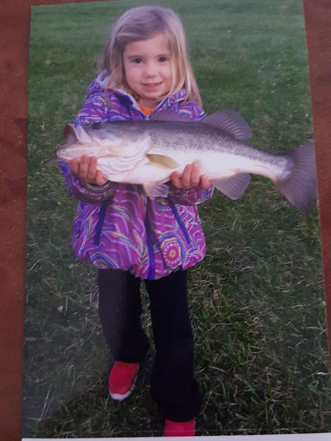 Photo courtesy of Alicia Sturgill, Paige Sturgill holding a largemouth bass
